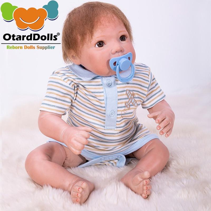 Bonecas Bebe reborn OtardDolls Suave Silicone Bonecas Reborn Bebês Recém-nascidos Bebe Reborn Realista Boneca Para O Presente do Banho Brinquedo R