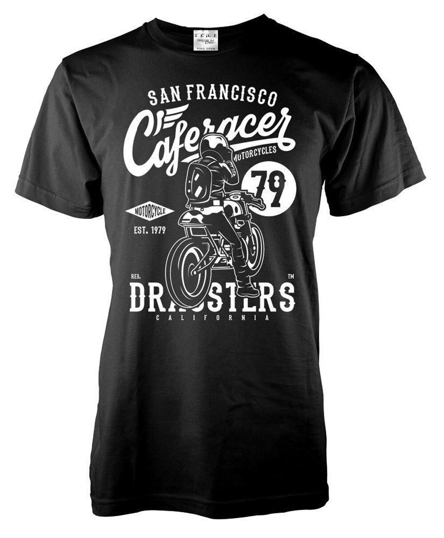 ¡Gran oferta de verano 2019! Camiseta de algodón de manga corta para motociclistas de San Francisco, camisetas de fans