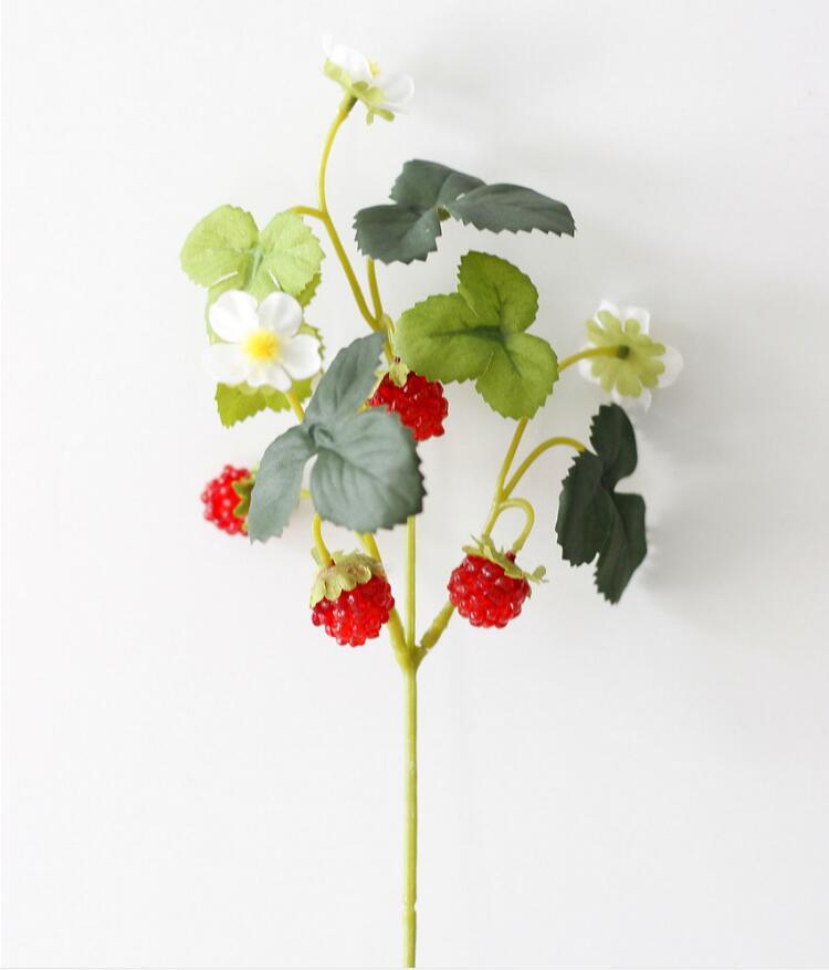 A flor artificial de morango amora com fout pequenas frutas decoração foi usado para simular fruit DIY materiais BP056