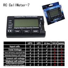 Cellmetro 7 V2 con función de equilibrio capacidad de la batería Digital medidor de voltaje cellmeter-7 para LiPo/LiFe/Li-ion/ niMH/Nicd