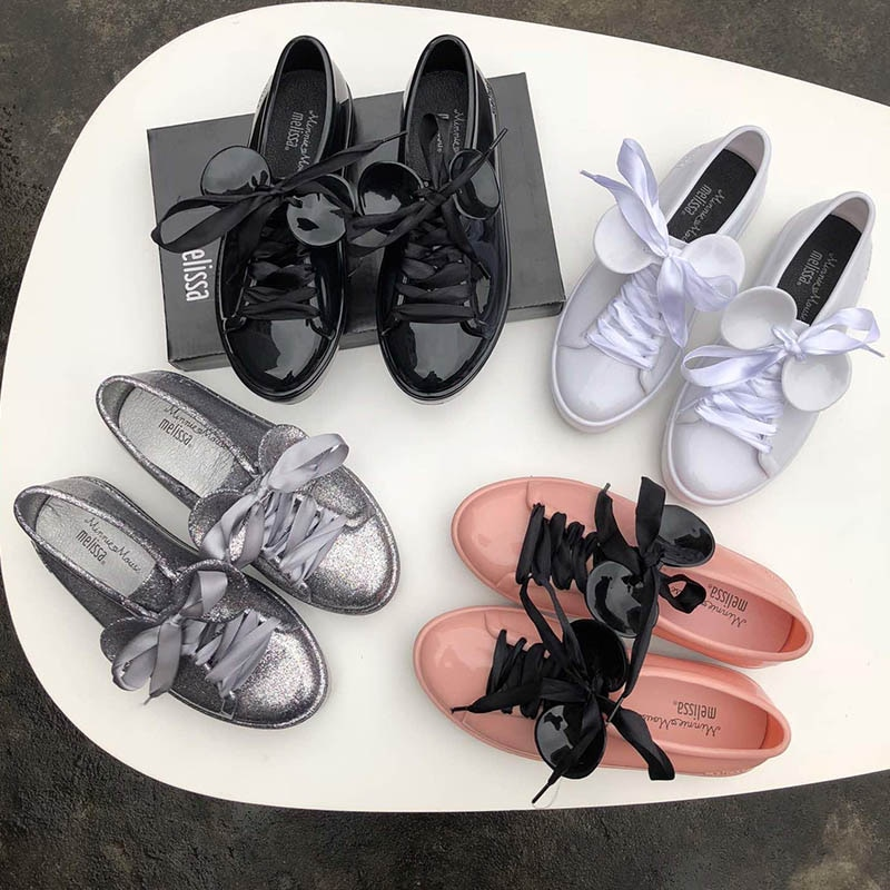 ¡Novedad de 2019! Sandalias Melissa Mickey Jelly, sandalias de goma de mujer, sandalias de playa impermeables, sandalias Melissa, zapatos de mujer