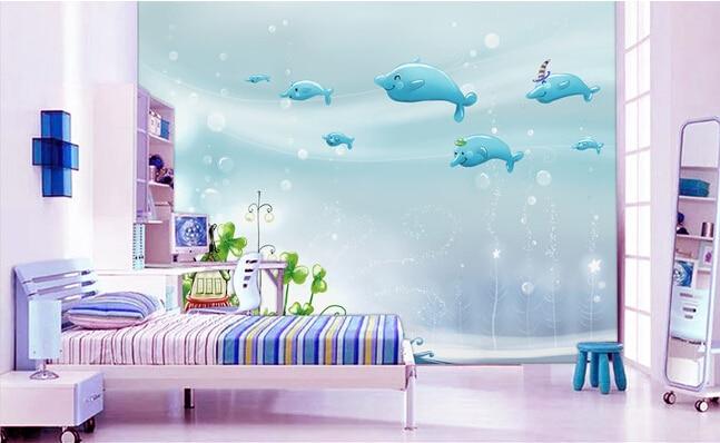 Papier mural 3D personnalisé   Magnifique dessin animé, papel du monde sous-marine de paréde, canapé de la salle de séjour, du mur de la télévision, de la chambre à coucher des enfants