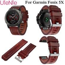 Luxury leather leather wrist Watch Strap quick Link Bracelet Belt 26MM For Garmin Fenix 3/Fenix 5XGPS Smart Watch band wristband
