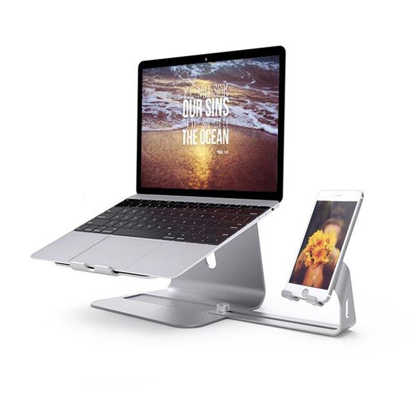 حامل تبريد للكمبيوتر المحمول مصنوع من سبائك الألومنيوم ، بيئة العمل ، تعزيز الكمبيوتر المحمول ، لجهاز MacBook Pro Air