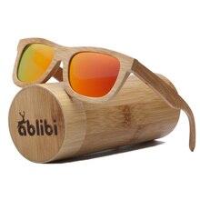 Ablibi Polarized Women Sunglass Bamboo Brand Style Designer Mirror Sunglasses Men Vintage lentes de