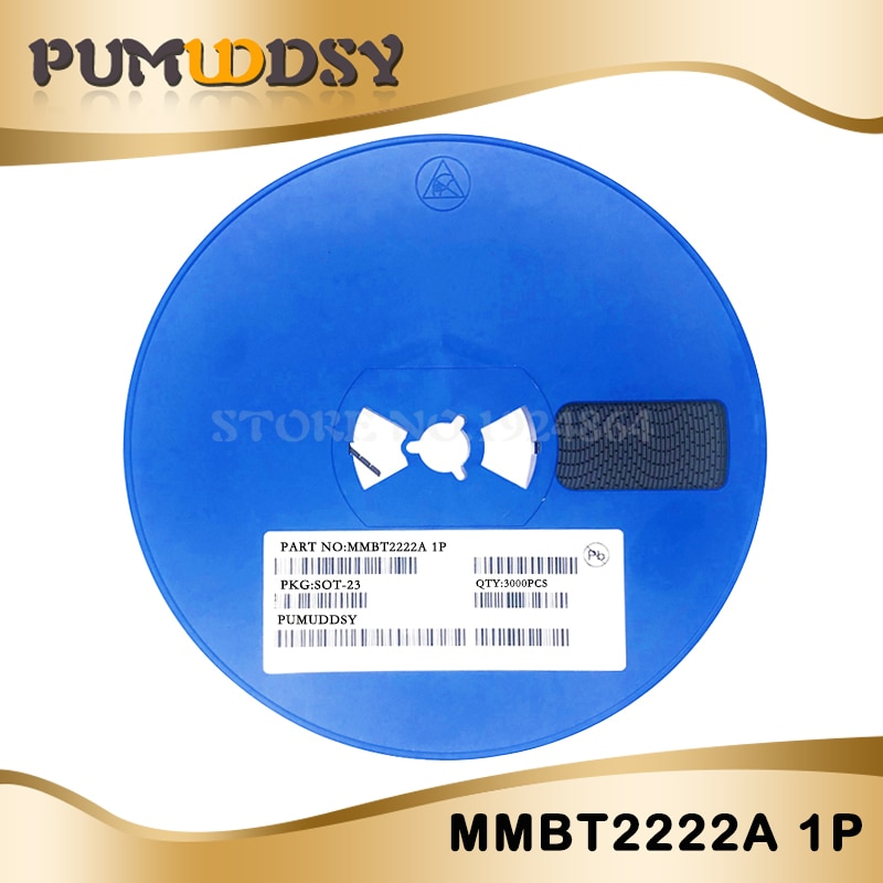 3000 pièces SMD transistor MMBT2222A 1P 2N222 0.6A/40V NPN SOT23 IC