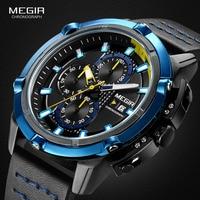 Часы Megir Мужские кварцевые с хронографом, 2062 г, водостойкие