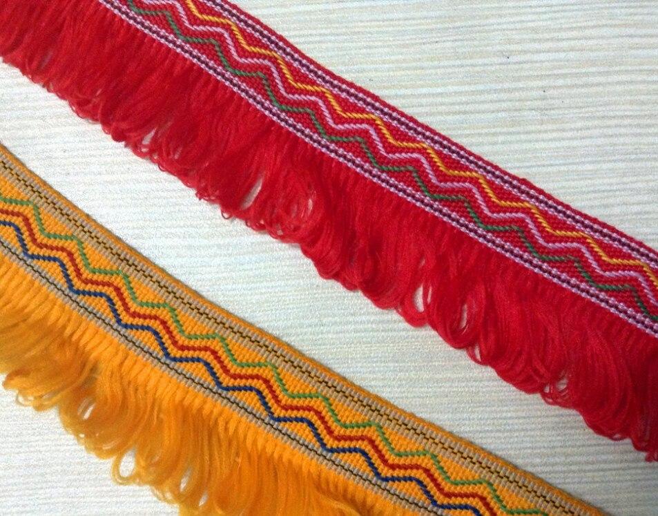 Recorte de encaje de estilo de las naciones de 3 cm, accesorios de la ropa de escenario, recorte de la decoración del disfraz, cinta de la correa de la guitarra XERY13139