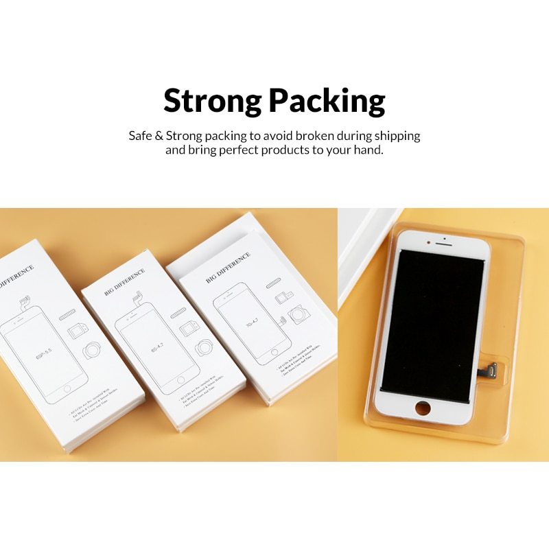 5PCS Grade For iphone 7 Plus LCD Display AAA Quality With Touch Screen Digitizer Assembly For iphone 7 7G Display Black&White enlarge