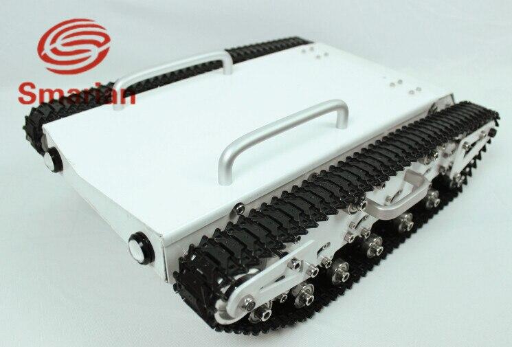 Oficial smarian grande peso de carga tanque chassi rc rastreado carro controle remoto robô móvel explorar comunicação eduaction caterp