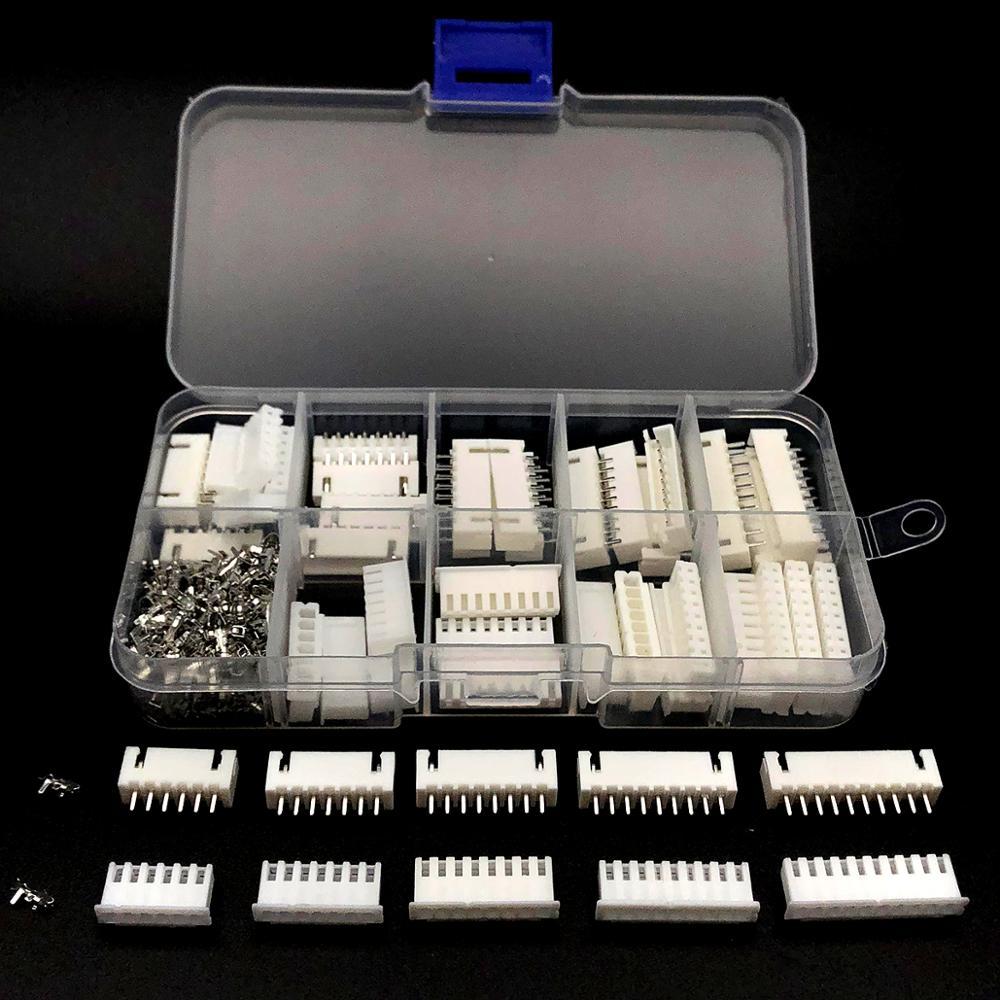 Kit de terminales de paso XH2.54 6p 7p 8p 9p 10Pin 260mm, carcasa, Conector de pines JST, juegos de adaptadores de cable TJC3 2,54 Uds.