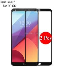 """2 sztuk/partia dla LG G6 H870 H870K/G6 Plus 5.7 """"pełna pokrywa Screen Protector ochronna folia ze szkła hartowanego + czyste narzędzia"""