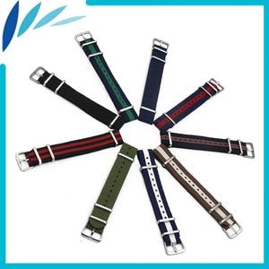 Nylon Watch Band 20mm for Diesel Watchband Stainless Steel Pin Buckle Strap Wrist Loop Belt Bracelet Black Brown Blue Green Red