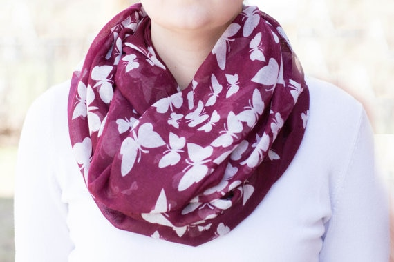 Best Deal Good Quality New Women Lady Butterfly Scarf Scarves Sun Protection Gauze Kerchief Gift 1PC