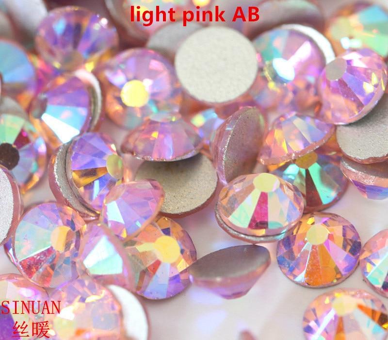 Rhinestone For Crafts 4Mm Crystals Glitter Light Pink Ab Crystal Rhinestones Round Rhinestones Flatback Crystal Beads Diy Stone