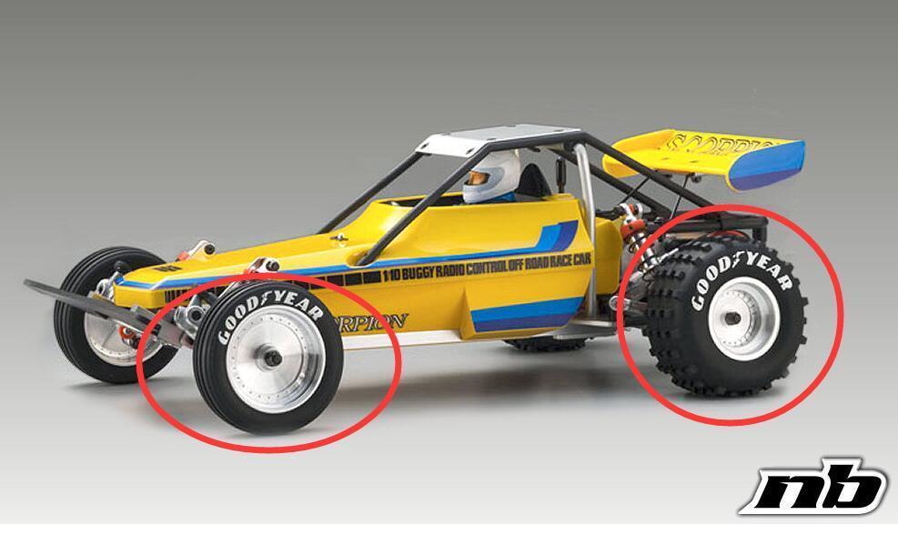 Kyosho SC30614 30615 песочные супер передние и задние шины хороший год Rim x4 scorpion