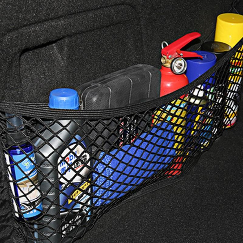 Free delivery New Car Back Rear Trunk Seat Elastic String Net Mesh Storage Bag Pocket Cage