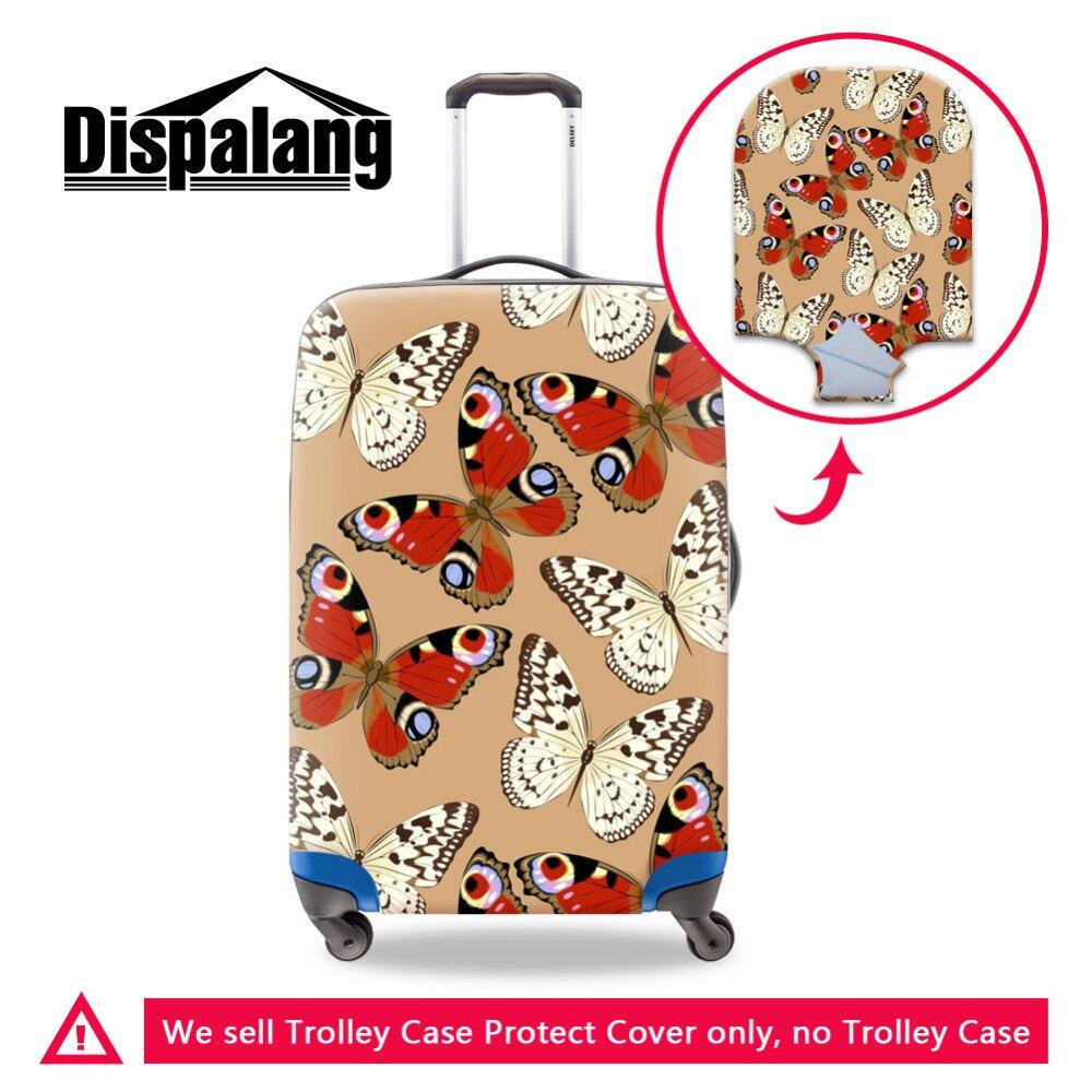 Dispalang Spandex élastique housse de bagage pour filles papillon imprimé imperméable housses de valise pour femmes hommes accessoires de voyage