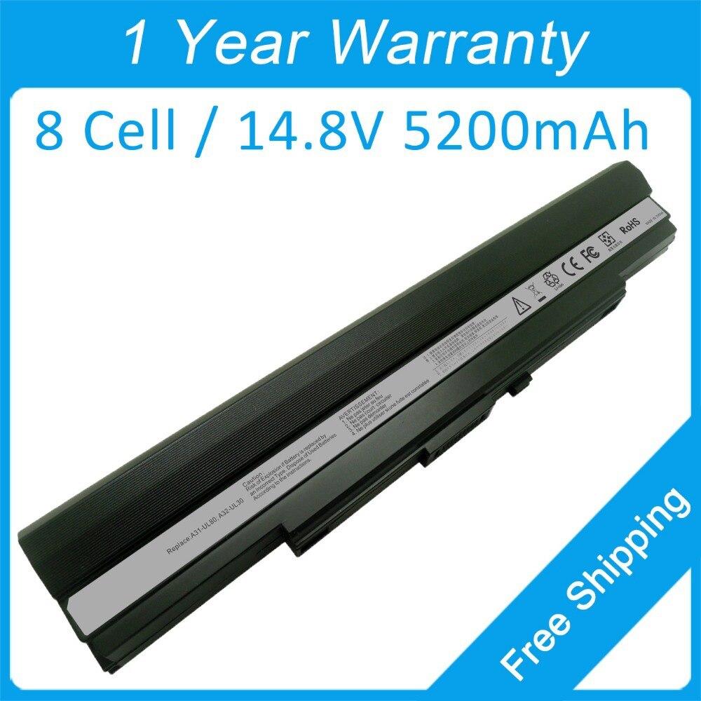8 Cell Laptop-Batterie A31-UL80 A32-UL30 für Asus U40 U40S U40SD U30JC U30SD U30K U30KI U35JC U35JG UL30K UL30KU
