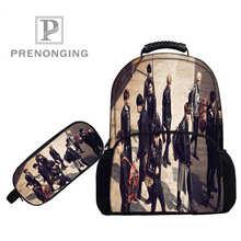 Personnalisé 17 pouces EXO sacs à dos stylo sacs impression 3D école femmes hommes voyage sacs garçons filles livre ordinateurs sac # 1031-8-EXO