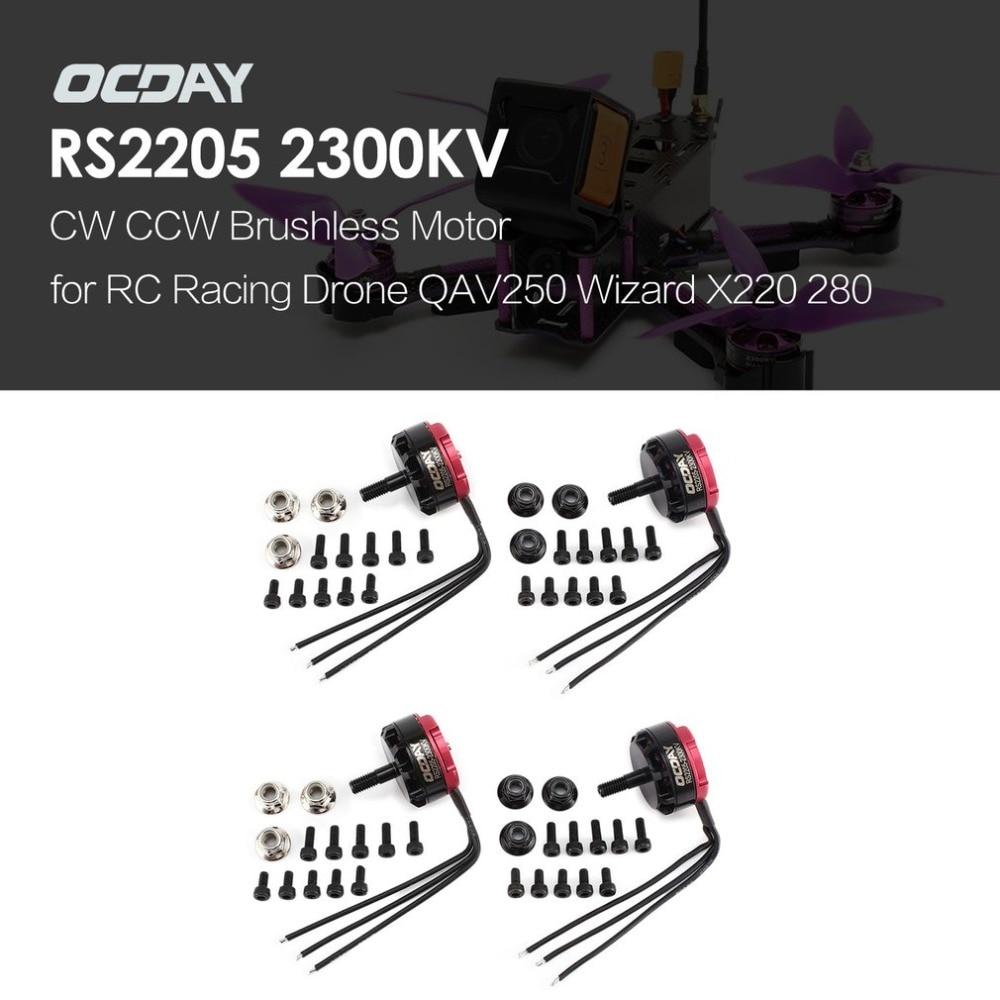 OCDAY RS2205 2205 2300KV 3-4S CW CCW Motor sin escobillas para QAV250 mago X220 280 RC FPV Drone avión y helicóptero de Multicopter