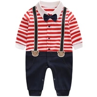 yierying christmas baby boy rompers gentleman style long sleeve cotton infant jumpsuits baby romper newborn clothes kid clothing