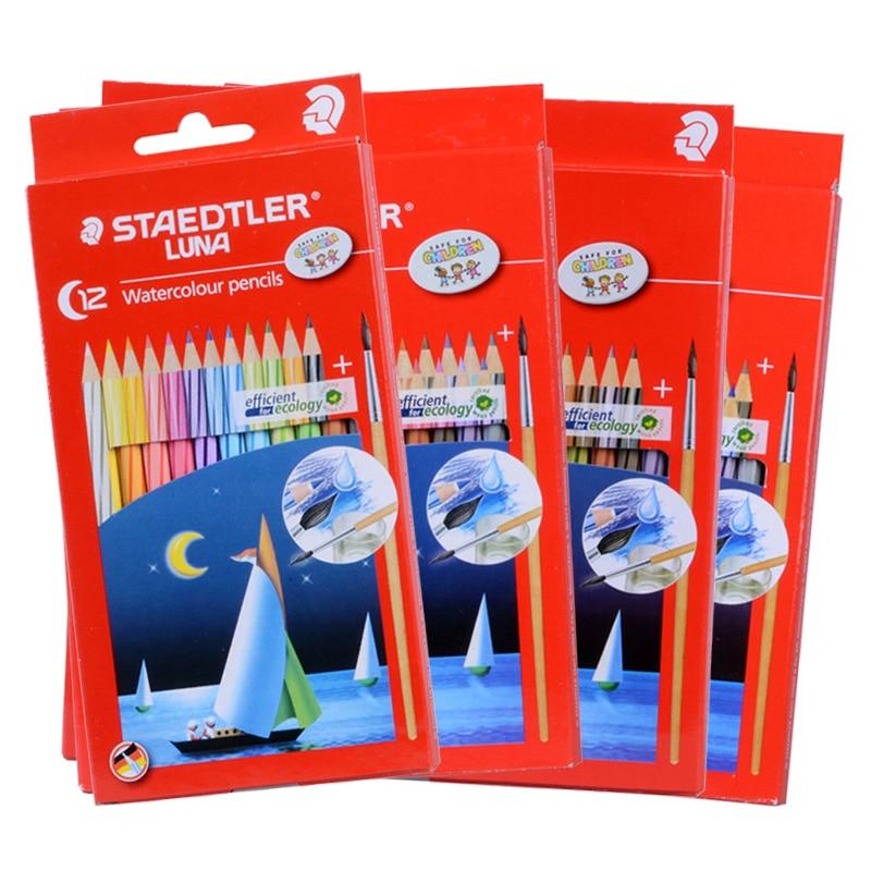 Staedtler Luna 137 10 C12 C24 C36 C48 water-soluble colored pencil Colorful Drawing Pencils Germany Secret Garden