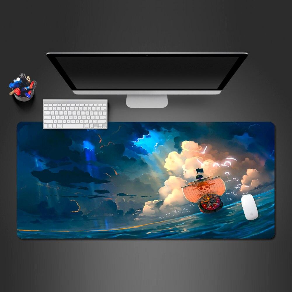 Alfombrilla de ratón con diseño de barco pirata de Anime, alfombrilla de ratón para videojuegos, alfombrilla de escritorio para teclado de ordenador a la moda, alfombrillas grandes de alta calidad para jugar