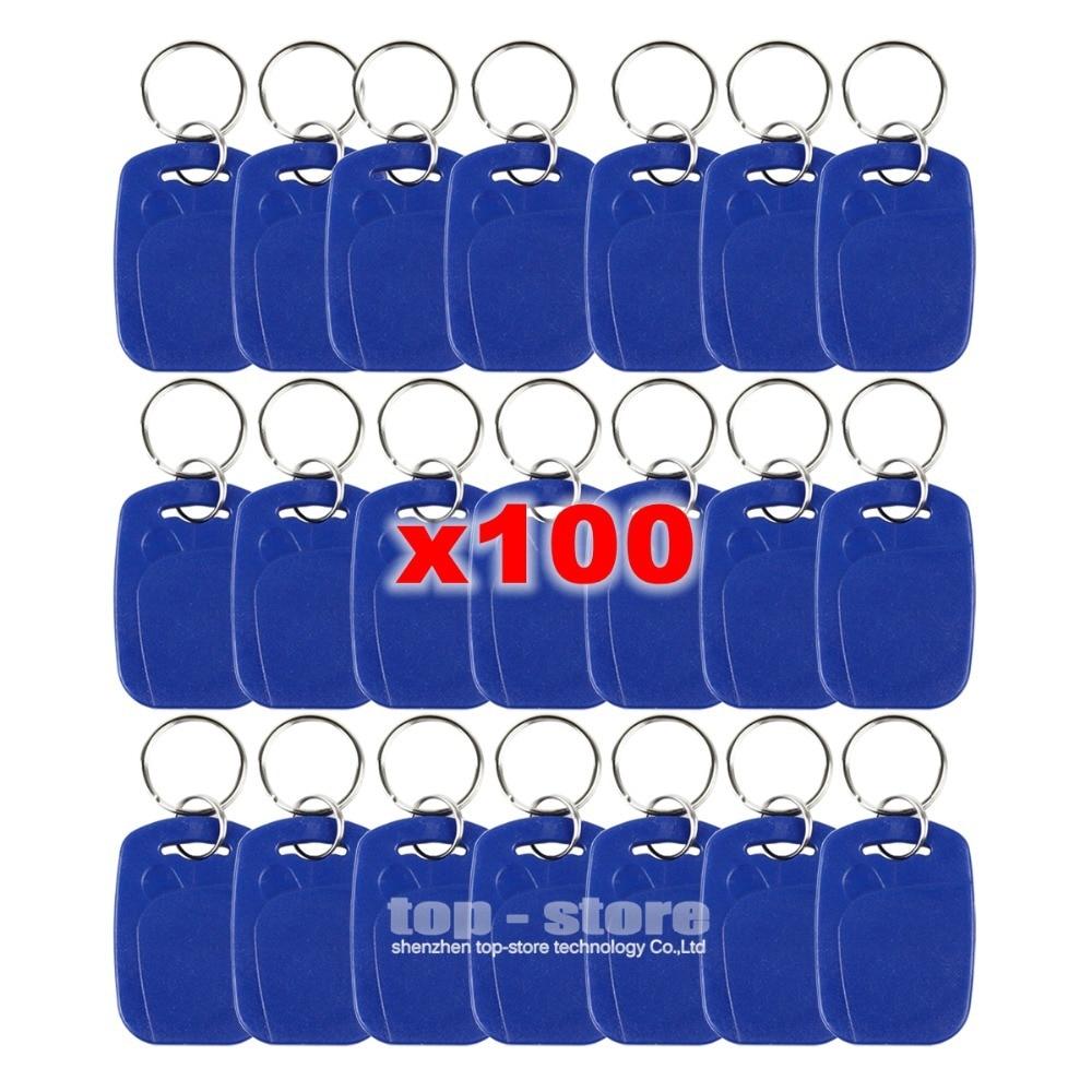 DIYSECUR 100 pçs/lote corrente Chave Rfid 125 Khz Proximidade Rfid Id Card Tag Chaves Keyfobs