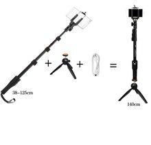 Foto yunteng 1288 telescópica selfie monopod com bluetooth remoto + 228 tripé suporte do telefone