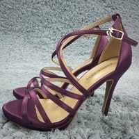 women stiletto thin high heel sandals sexy ankle strap open toe purple satin fashion party bridals ball lady shoe 0640a 4