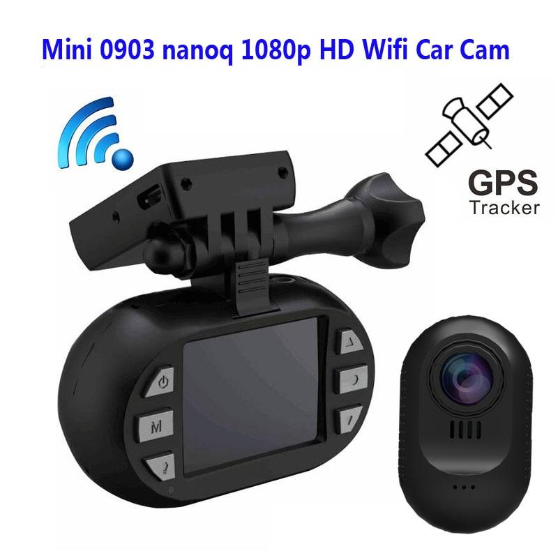 Original Mini 0903 nanoq 1080p HD Wifi cámara de salpicadero condensador 7G noche visión NT96655 IMX322 GPS