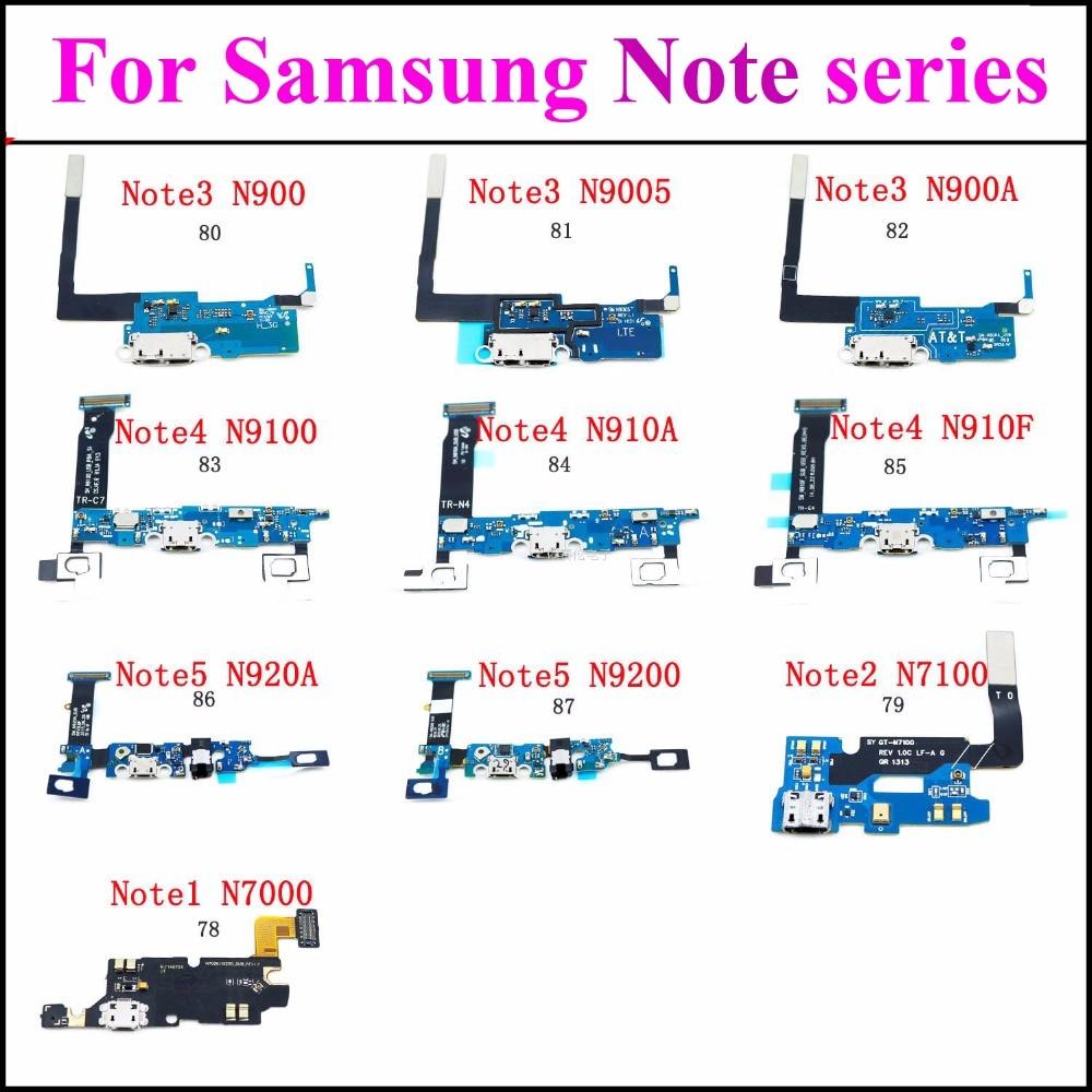 1x Micro USB Jack PCB para Samsung nota 3 Note4 Nota 5 puerto de carga de base para cable flexible N900A N9100 N910A N910F N920A N92
