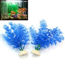 2pcs Plastic Artificial Aquatic Plants Grass Weeds Underwater Fish Tank Landscape Decor Aquarium Decoration