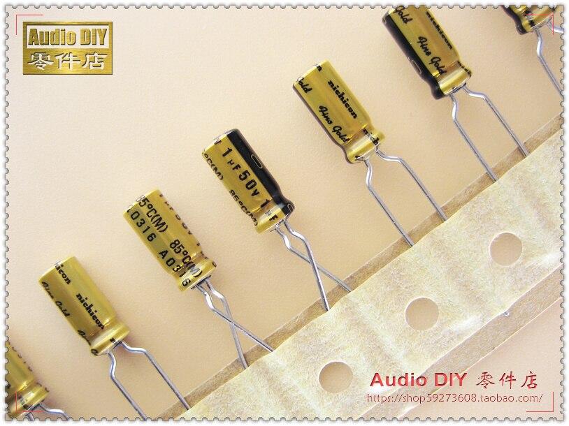 AliExpress - 2020 hot sale 30PCS/50PCS Nichicon (fine gold) FG series 1uF/50V audio electrolytic capacitors free shipping