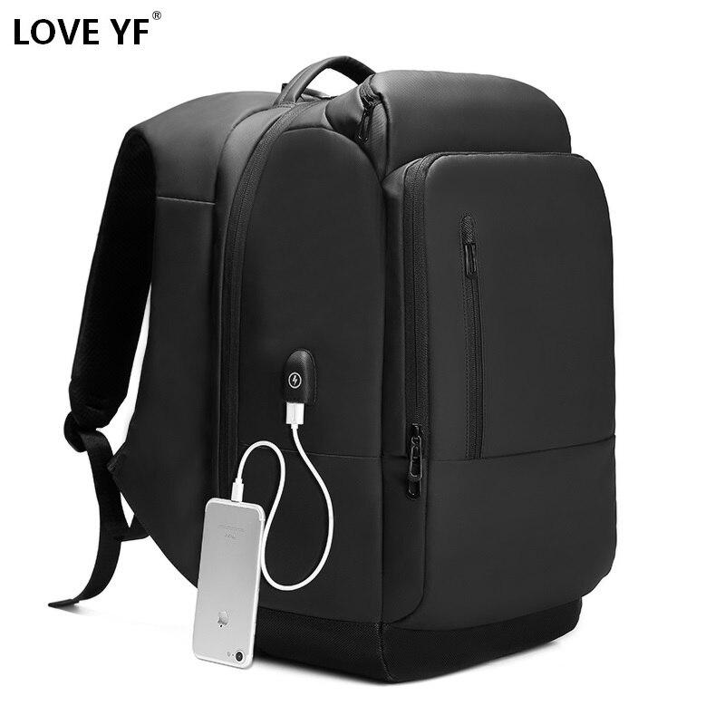Mochilas multifunción antirrobo de alta calidad para hombres, mochilas escolares recargables para adolescentes, bolsa de viaje de negocios de alta capacidad