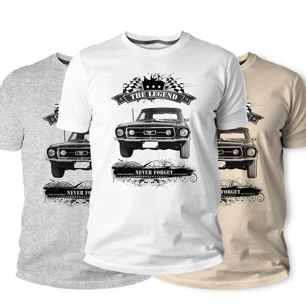 T-Shirt American Classic Muscle Car Mustang Mod V8 Young Vintage Men'S Tees 2019 New Casual Tshirt Men Creative Man'S Short