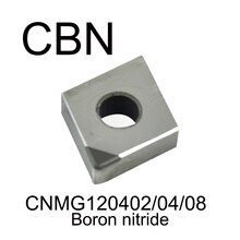 CNMG120402/CNMG120404/CNMG120408 CBN, CNC elmas CBN bor nitrür sıkıcı aracı Işleme sertlik HRC55 derece