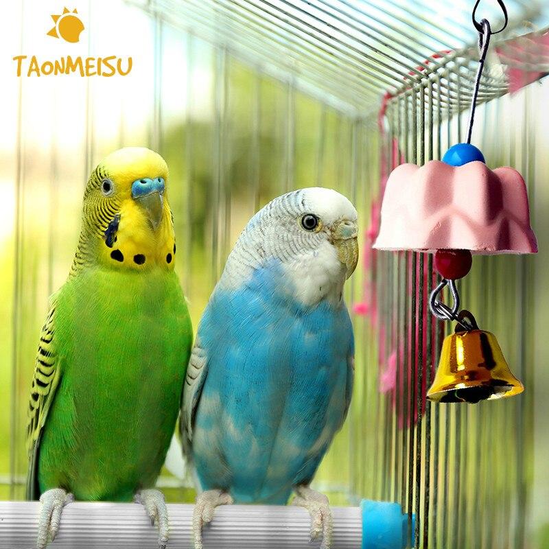Игрушка для ухода за зубами в форме попугая, птицы, кальция, молока, шлифовальный камень, жевательная игрушка для попугаев, произвольный цве...
