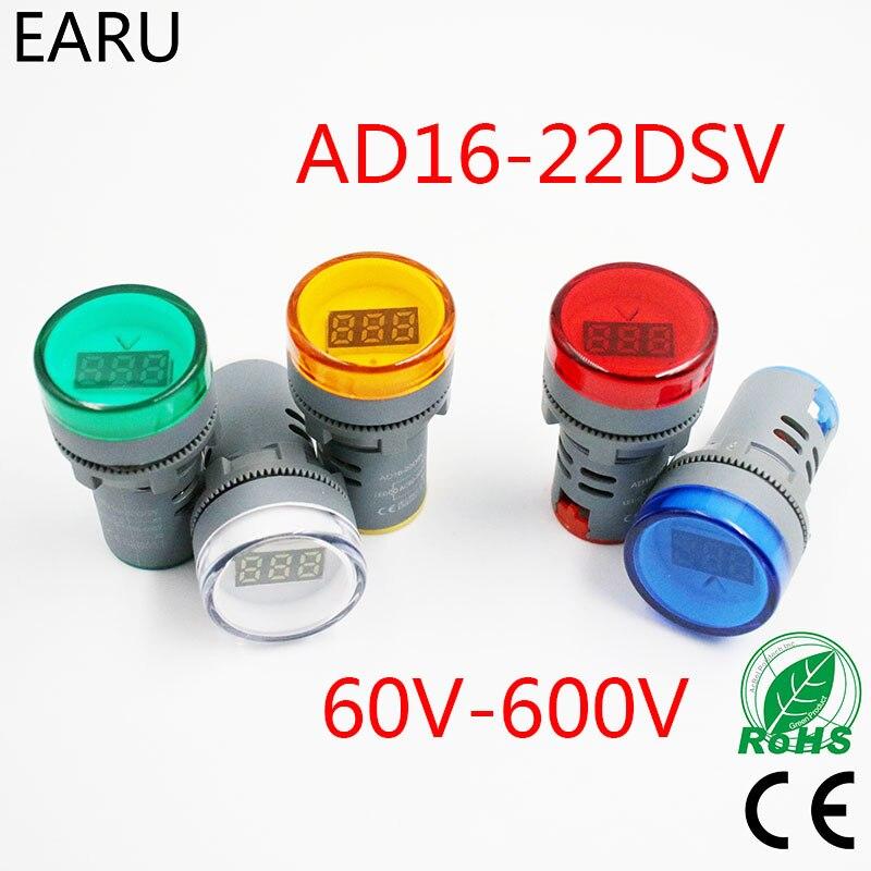 22MM Digital LED AC Voltmeter Ampermeter Ammeter 60-500V 0-100A Voltage Current Ampere Meter Gauge Tester Indicator Lamp Pilot