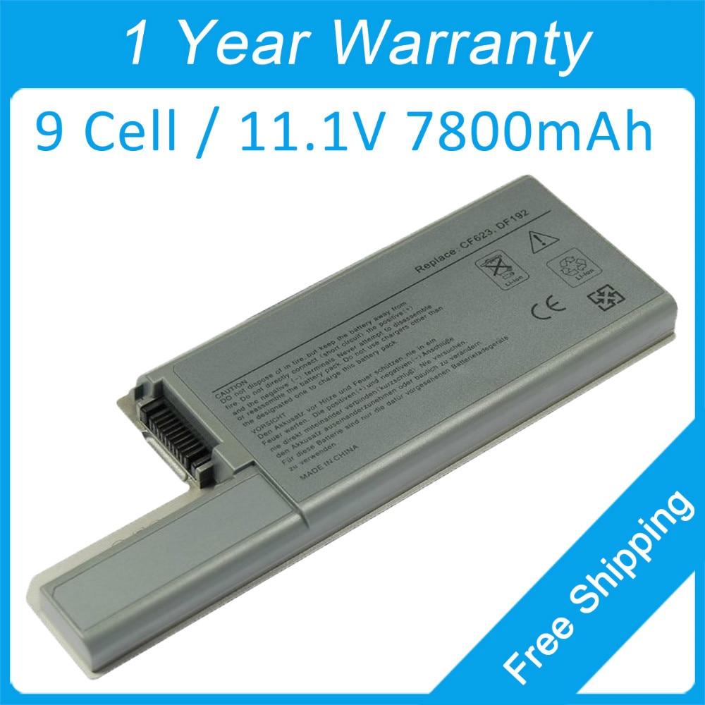 7800 mah bateria do portátil para dell Latitude D531 D820 0DF249 0FF231 0FF232 0GR932 0GX047 0TT721 0WN791 0WN979 310 - 9123 0XD735