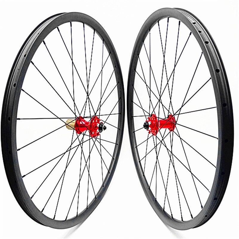 Rodas de disco mtb 27.5er 650b 30x28 milímetros tubeless rodado bicicleta carbono rodas de disco de bicicleta de carbono mtb rodas D791SB d792SB QR