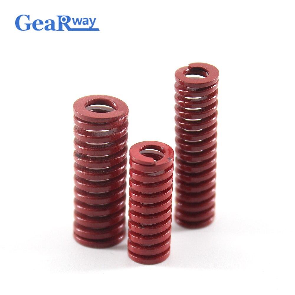 Gearway 2 pcs Vermelho Compressão de Compressão da Mola Espiral de Carregamento Médio Stamping Die Primavera TM16x20/16x25/16 x 30/16x50/16x55mm