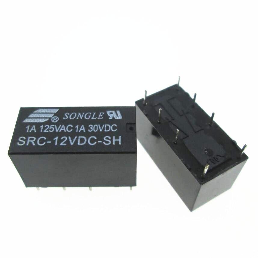 Telecomunicações NOVAS 12 v relé SRC-12VDC-SH SRC-DC12V-SH 12VDC DC12V 12 v 1A 125VAC 8PIN