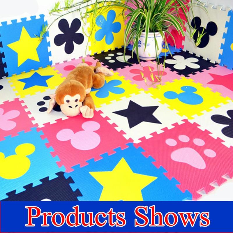 Promoción 10 unids/lote alfombra de juego multicolor para niños EVA puzle alfombra para el suelo de espuma eva para bebés alfombra de juegos de retazos TYD001