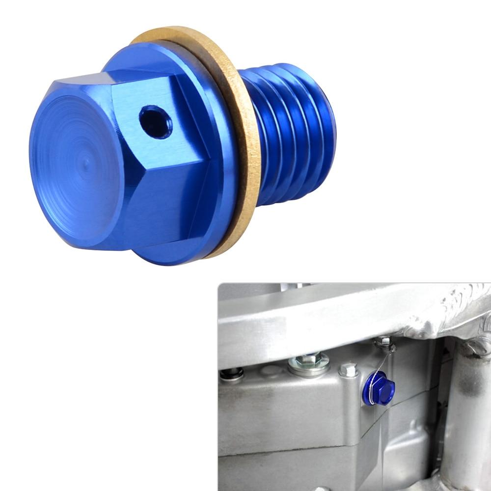 NICECNC tapón de drenaje de aceite perno para Yamaha YZ 250/X Tricker Serow 250 XT250X WR250R/X Kawasaki KLX150S KLX125 D-Tracker 125 KLX110/L