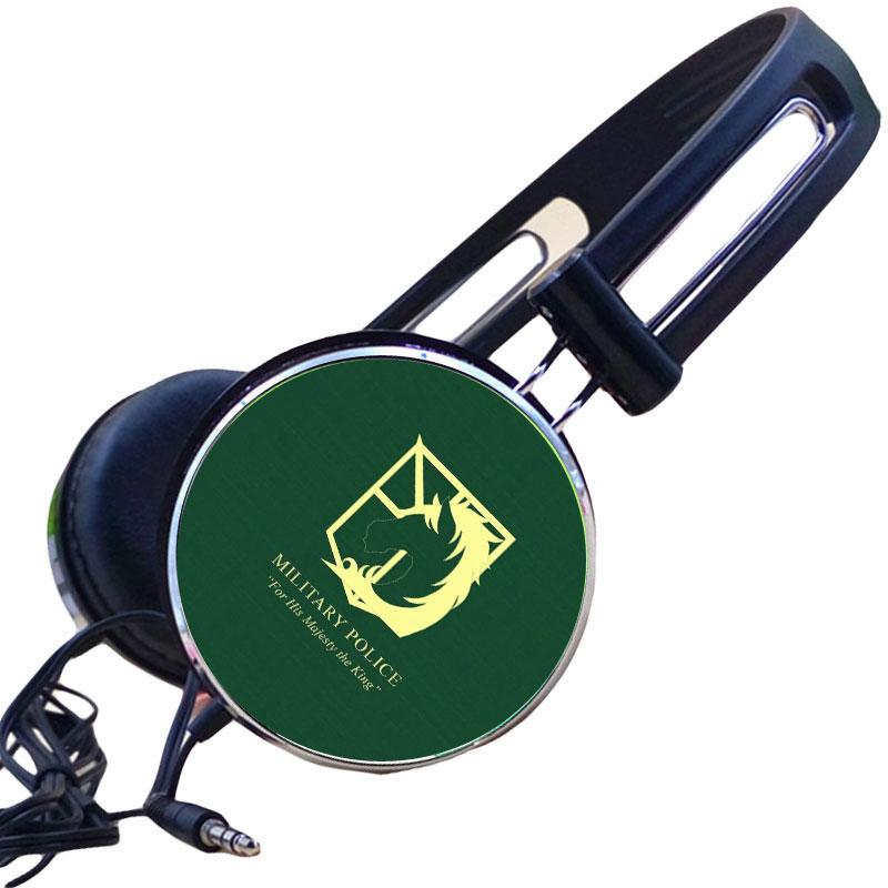 Venta al por mayor de auriculares deportivos ajustables de Anime Attack on Titan Military Police Regiment