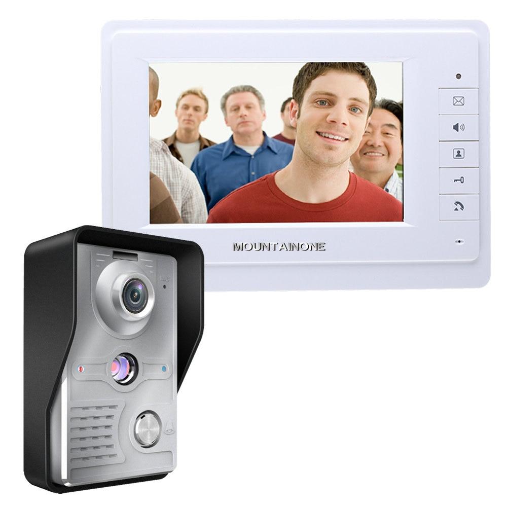 "Visual intercomunicador timbre 7 ""TFT LCD cable de vídeo sistema de teléfono de puerta interior Monitor 700TVL al aire libre IR Cámara desbloquear"