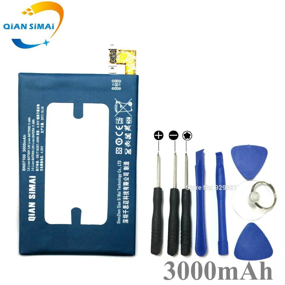 QiAN SiMAi nuevo BN07100 herramientas de batería y destornillador para HTC One M7 802T 802W 801E 801S 801N 802D teléfono móvil + código de seguimiento