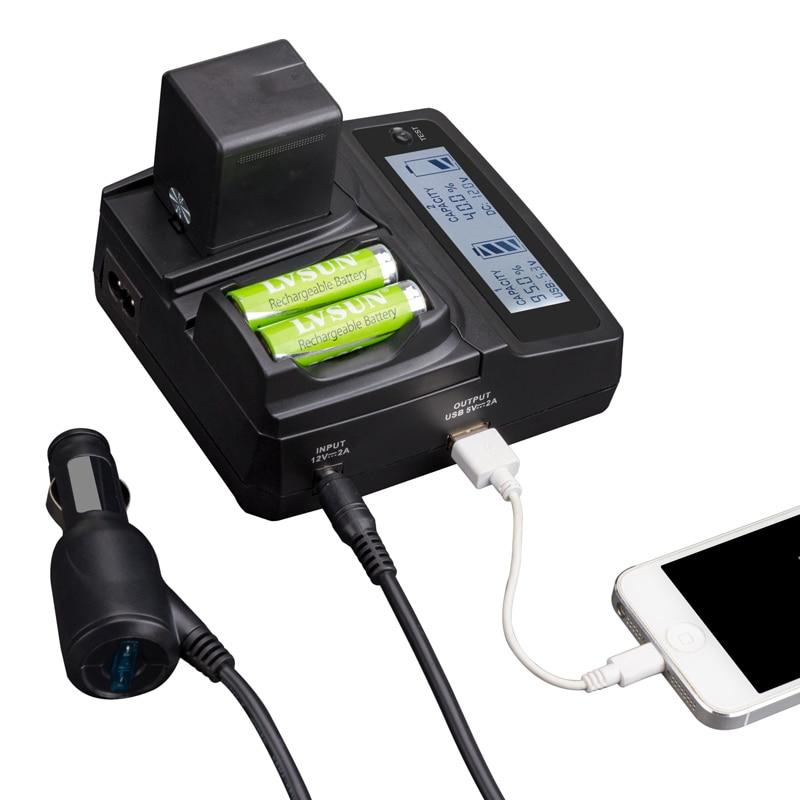 LVSUN Teléfono universal + AA + Cámara del coche AC/AC KLIC-7000... KLIC 7000 cargador para Kodak Easyshare LS755 ZOOM M590 rodajas pantalla táctil LCD